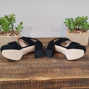 Sacha London Shoes - Sacha London Suede Platform Heels